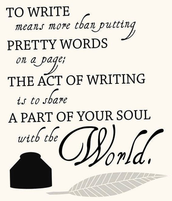 The Intimacy Of Writing Writing Quotes Writer S Blog