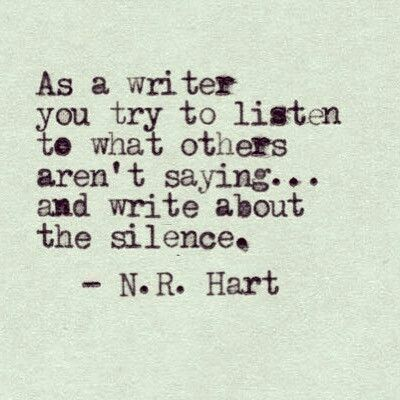 Deafening Silence Writing Quotes Writer's Blog Extraordinary Writers Quotes